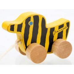 Holz-Tigerente mit Schnur