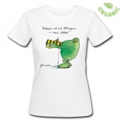 Küssen ist wie fliegen - nur schöner. Frauen Bio T-Shirt