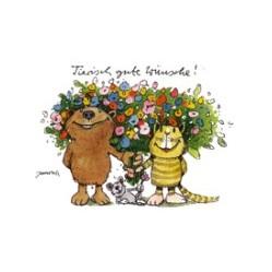 Tierisch gute Wünsche (Postkarte DIN A6)
