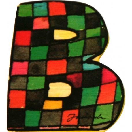 Janosch Holzbuchstabe B