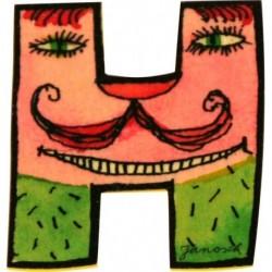 Janosch Holzbuchstabe H