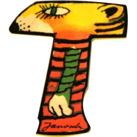 Janosch Holzbuchstabe T