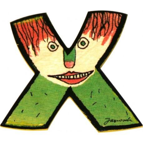 Janosch Holzbuchstabe X
